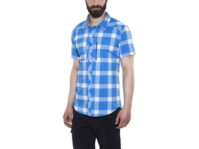 Bergans Jondal Chemisier sans manches Homme, athens blue/white check